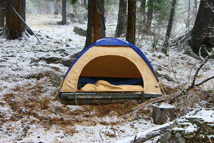 Carefully plan your winter camping trip to protect yourself against the cold.
