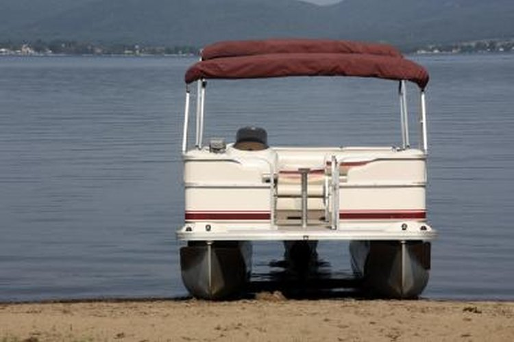 Pontoon boats usually have two or three separate pontoons, which keep them afloat.