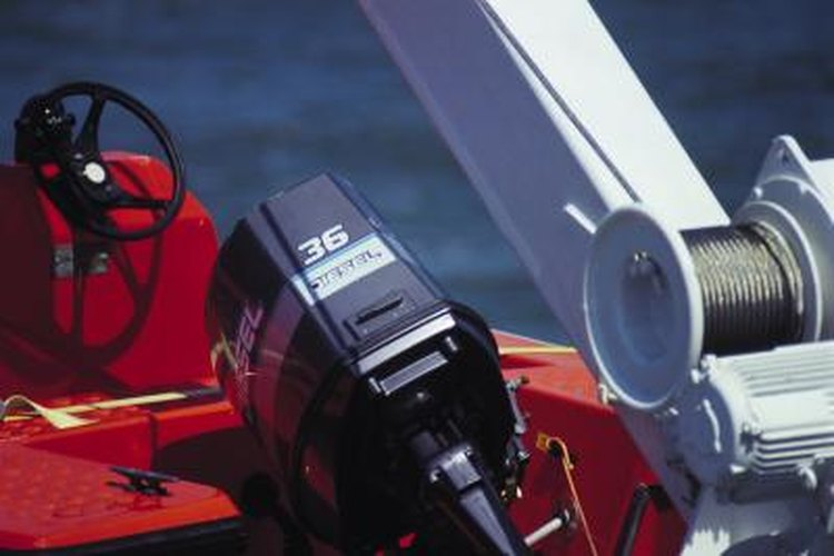 Construct a custom power tilt mechanism for an outboard engine.