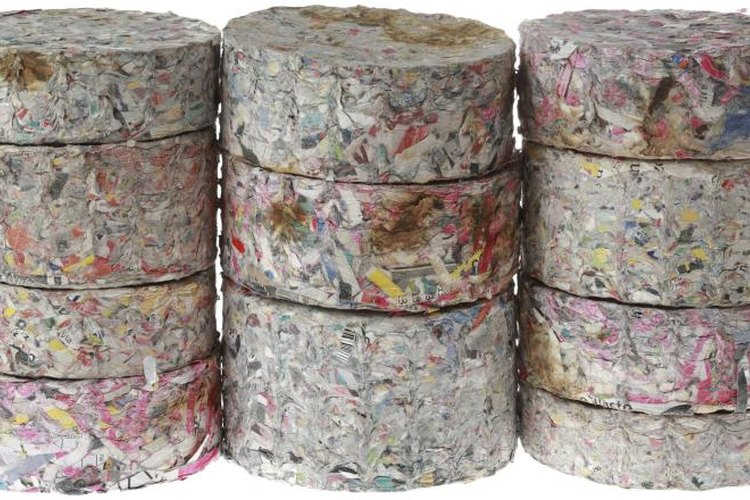 Paper briquettes are stackable for easy storage.