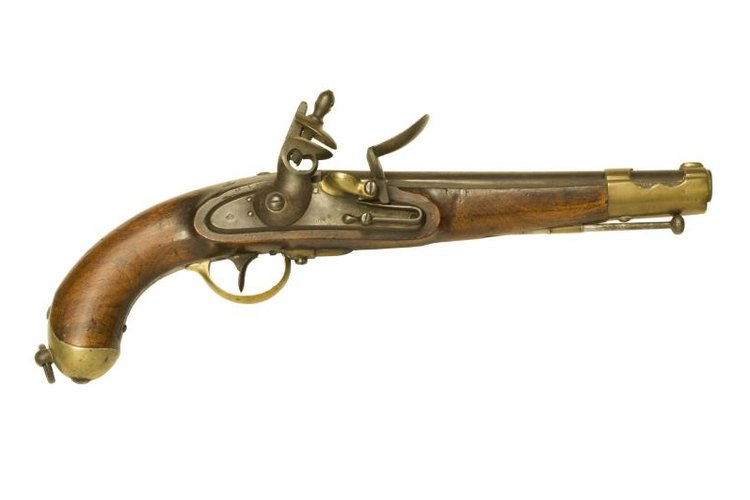 This flintlock dates to the Revolutionary War.