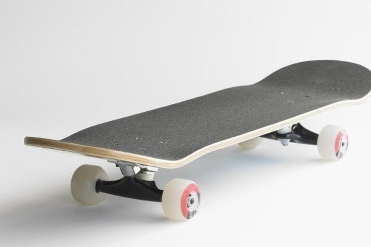 The bend on both ends of a skateboard deck is traditional.