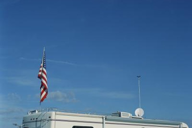 Check the roof of your RV if the antenna is leaking.