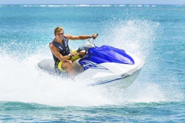 man riding jet ski in Florida