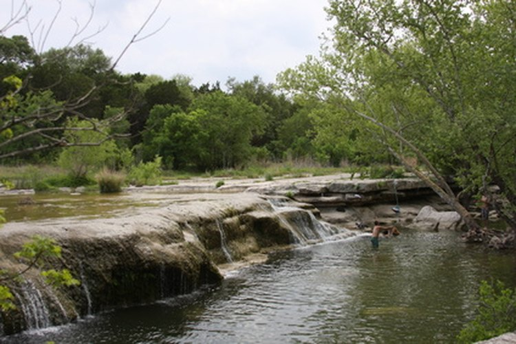 Waterfalls in Texas statepark.