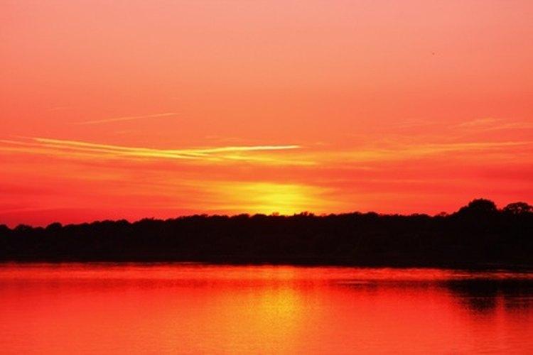 Sunset on Lake Sommerville