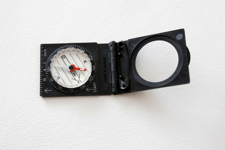 A lensatic compass will give you an accurate azimuth reading.