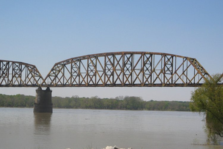 Bridge over the Ohio River near Louisville, Kentucky.
