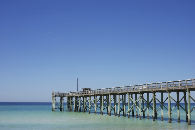 Panama City Beach contain a couple of fishing piers stretching into the Gulf.