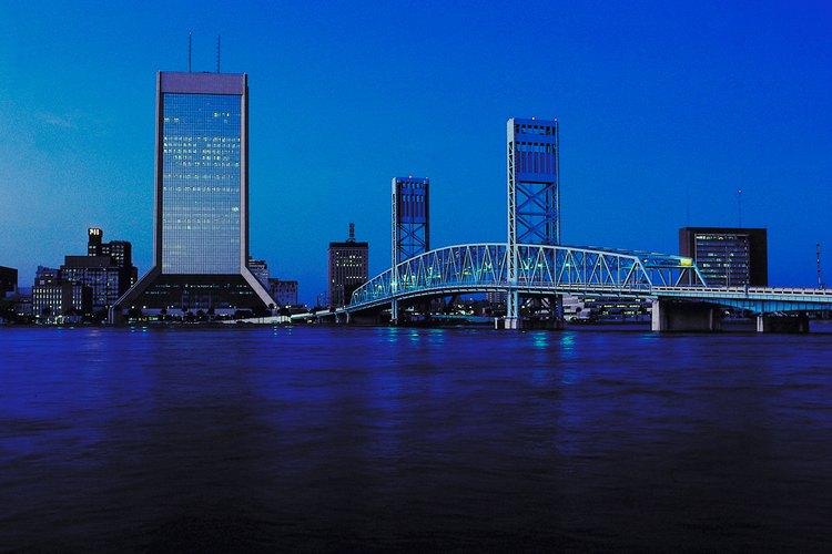 Jacksonville overlooks the Atlantic Ocean in northeast Florida.