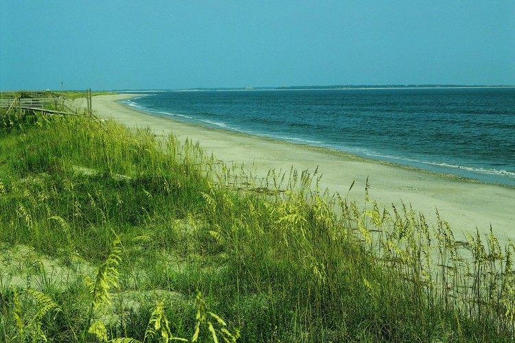 Image of Barrier islands along North Carolina's coast.