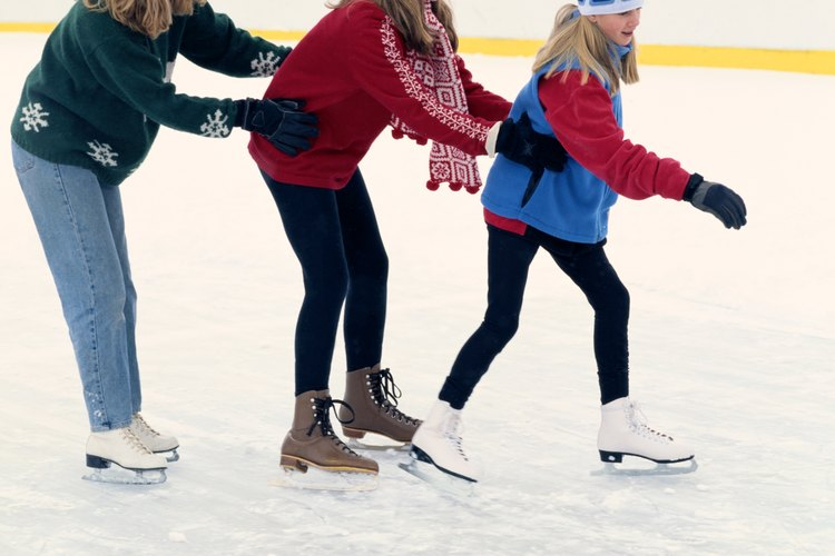 Skating in groups can be fun.