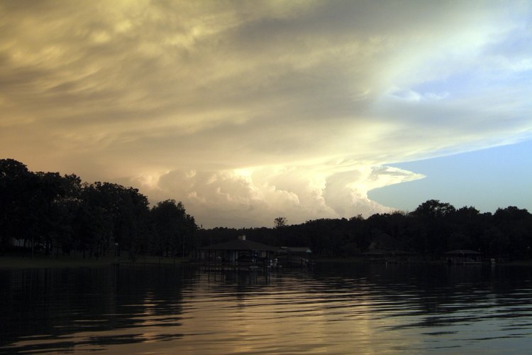Watch the sunset from camp on Lake Limestone's eastern shore.