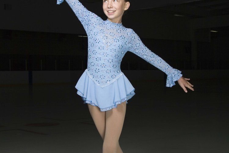 Some figure skaters compete for medals and prizes.