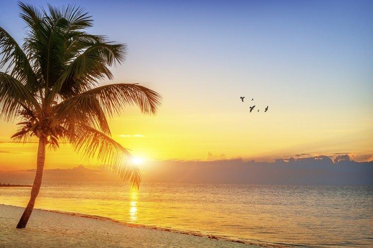 Sunrise over a beach in the Florida Keys.