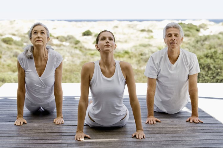 Asanas or yoga postures, work to stretch and strengthen the body.