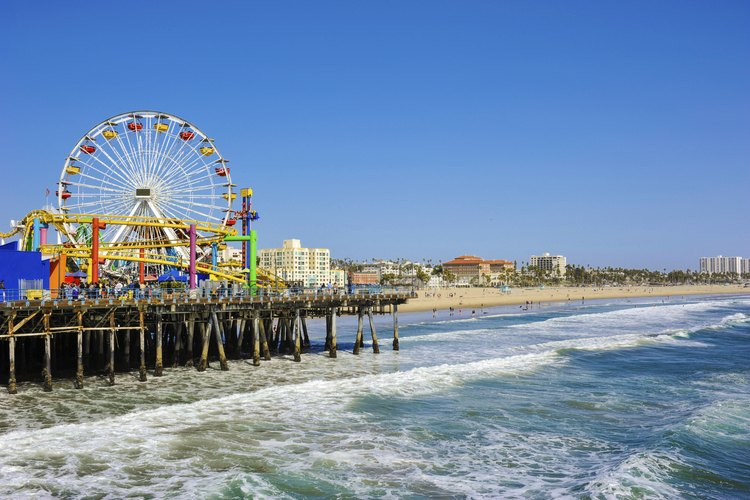 The Santa Monica Pier And Sfront