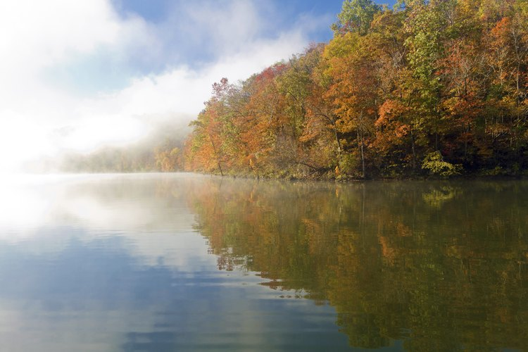 View of Missouri lake in Fall.