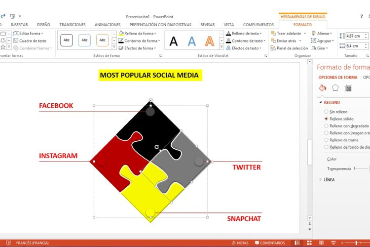 Descarga un documento de PowerPoint con un rompecabezas editable