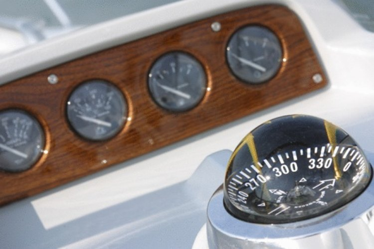 A boat compass helps to keep you on course.