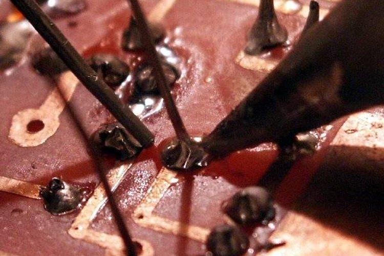 Soldering circuit board. Photo courtesy of Vlastní Dílo
