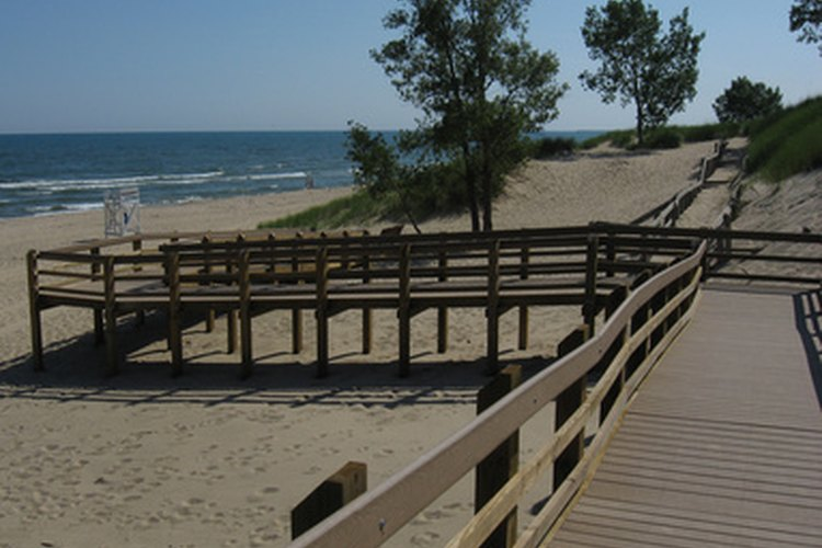 Sand dunes in Northwestern Michigan where campers and RVs flock.