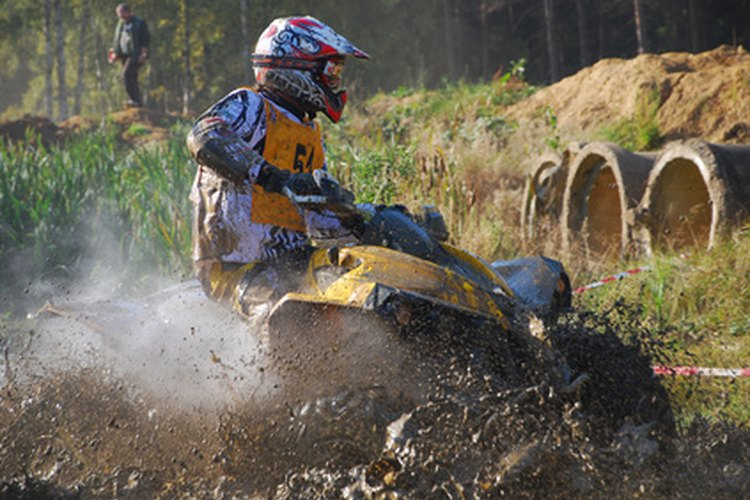 Coastal ATV trail rider shown in action.
