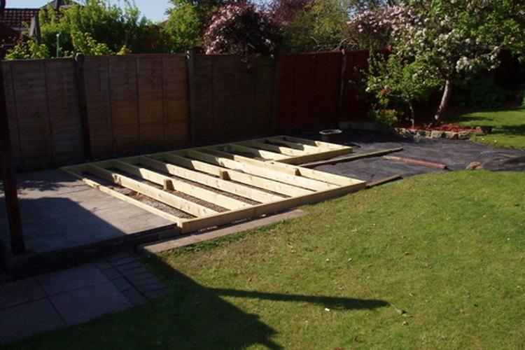 Cualquier persona con conocimientos básicos de carpintería puede construir una terraza.