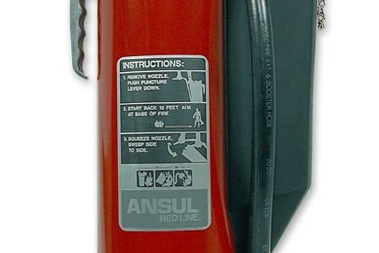 Un extintor.