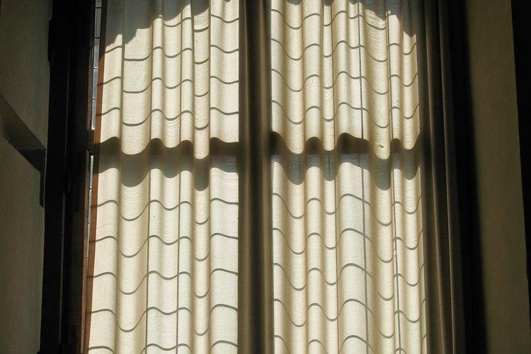 Las cortinas vienen en una variedad de longitudes.