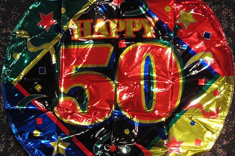 Celebrar un cumpleaños de 50