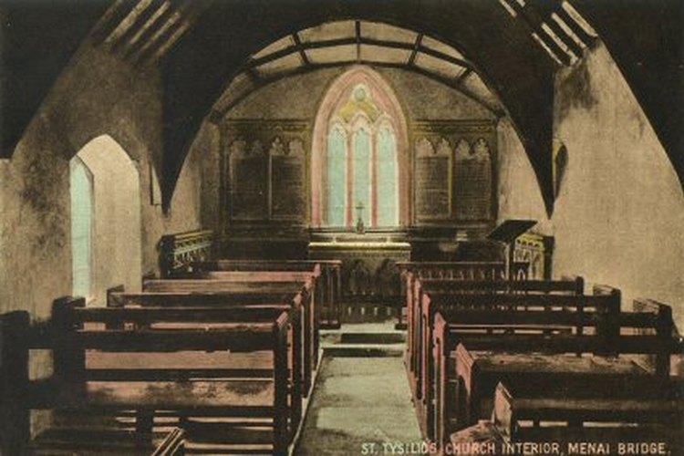 El ambulatorio es el área exterior de la iglesia por la parte trasera de la casa parroquial.