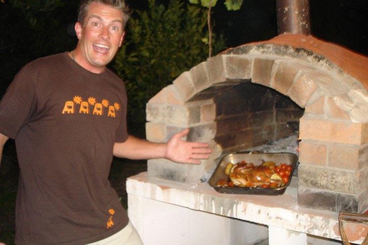 Horno de leña para pizza.