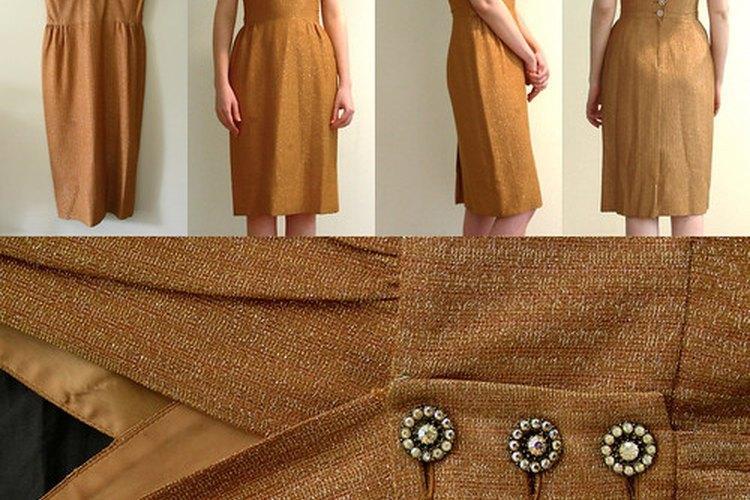 Ejemplo de un vestido de línea A.