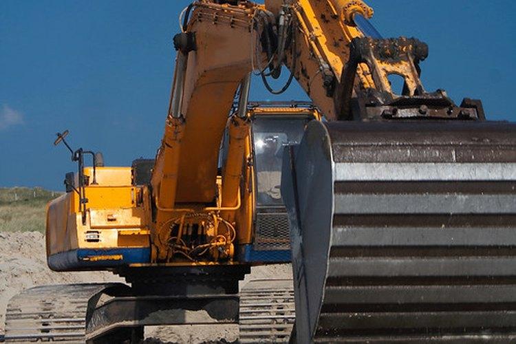 Una maquinaria pesada de excavación.
