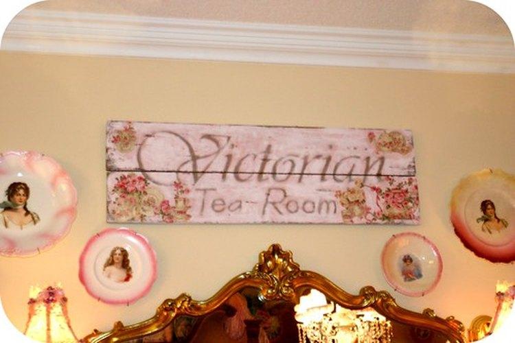 Un salón de té de estilo victoriano.