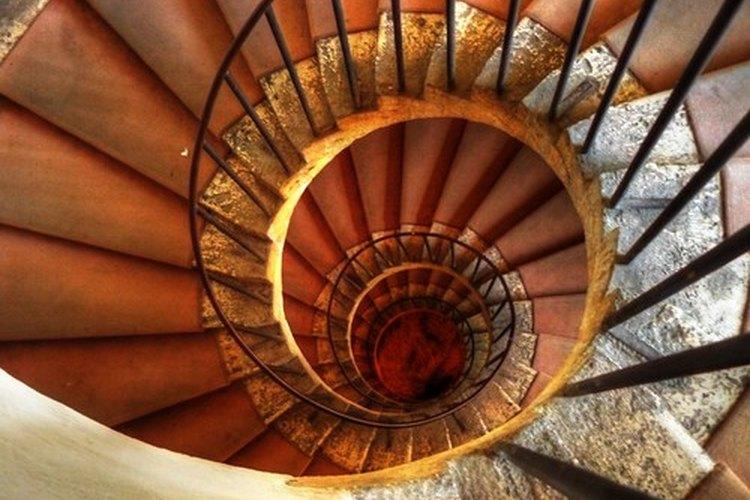 Escalera en espiral.