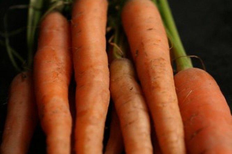 No verás ninguna semilla en las zanahorias.