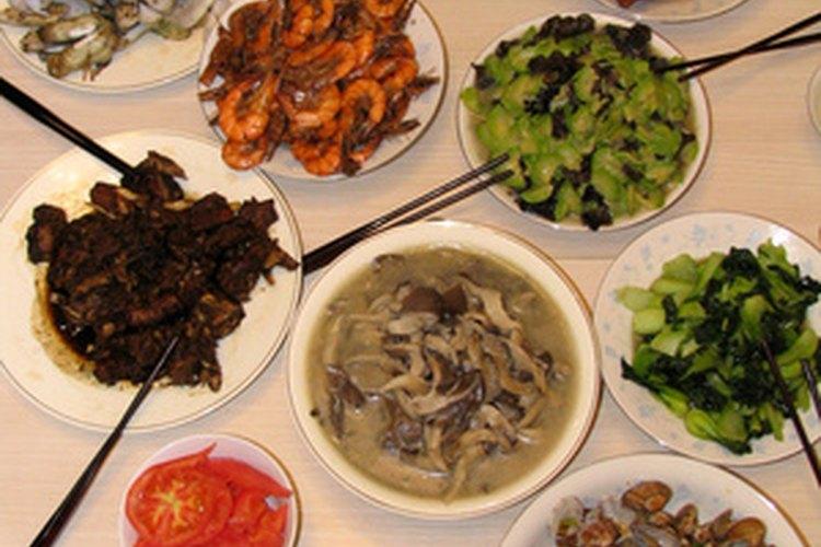 Algunos alimentos de la comida china son nutritivos y bajos en grasa y calorías.