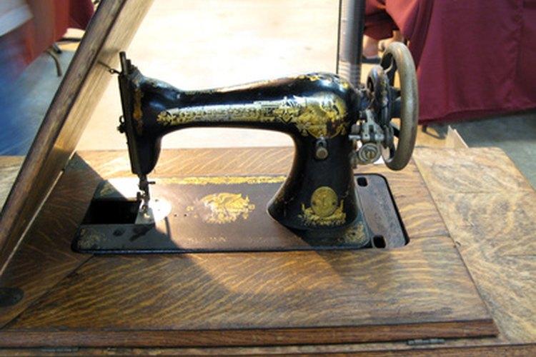 La parte superior de una máquina a pedal a menudo luce de este modo, una versión básica de las máquinas actuales.