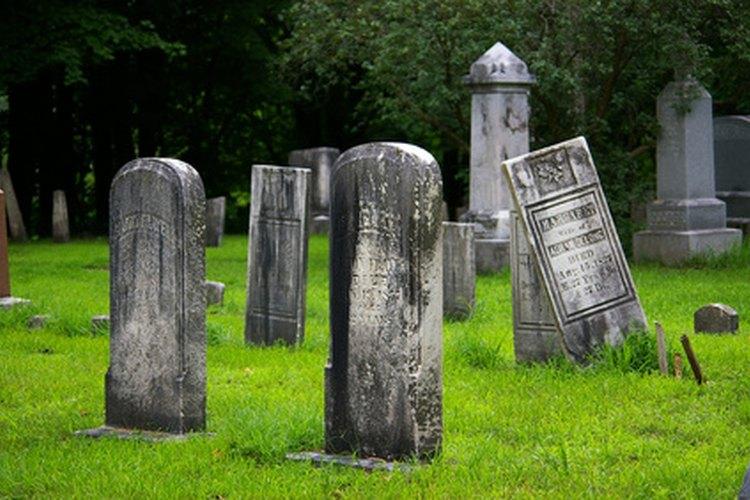 Hay maneras de descubrir si hay algo como un cementerio cerca de tu casa.