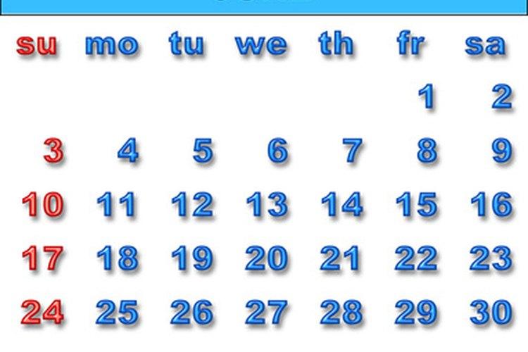Un calendario te ayudará a determinar la cantidad prorrateada.