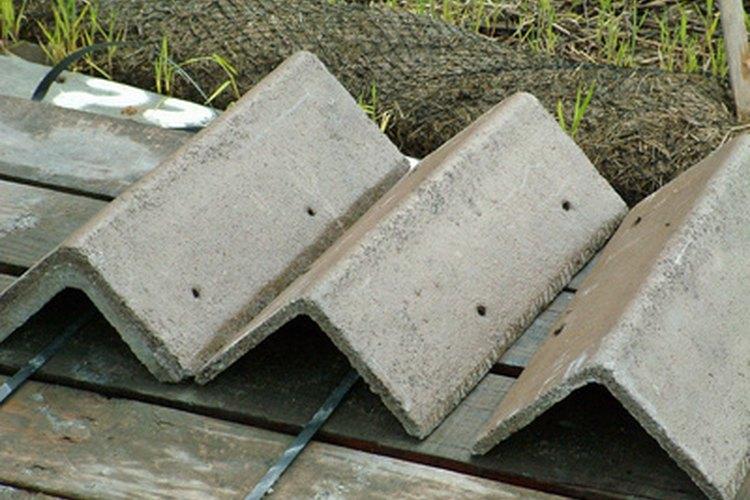 Los techos de goma y de plástico están hechos de materiales reciclados.