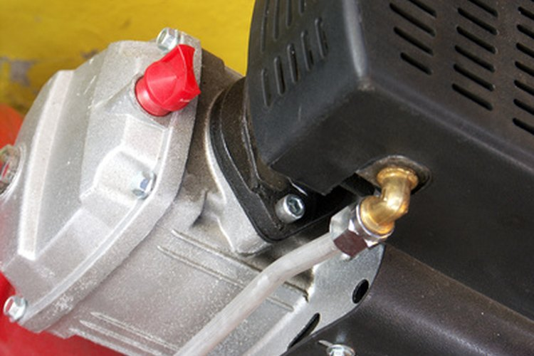 Motor y cabezal de un compresor de aire.