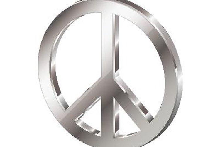 Lleva el símbolo de la paz