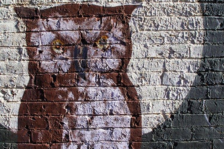 Las pinturas sobre ladrillos pueden quedar muy bien.