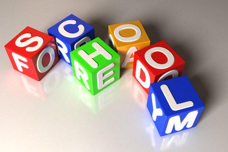 Los niños del jardín infantil construyen un vocabulario en vista a palabras visibles.