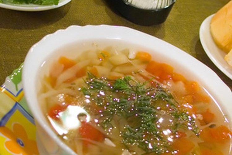 La sopa de pollo y ñoquis de Olive Garden.