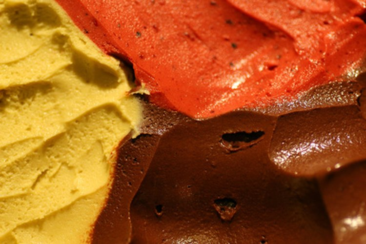 El gelato está disponible en una variedad de sabores de fruta y licor.