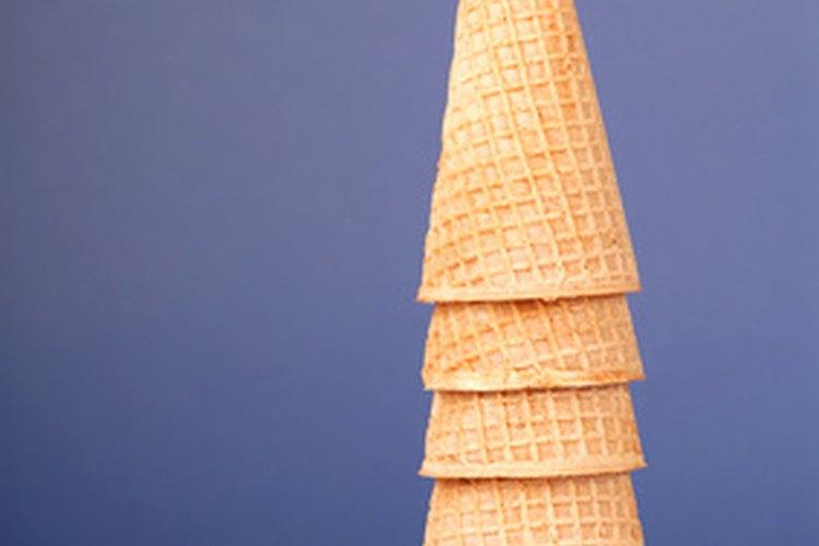 Cucuruchos de helado.